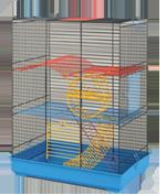 Клетка Teddi Lux II для мелких грызунов (колесо + пружина)